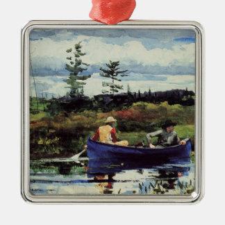 Winslowホーマー: 青いボート1892年のアートワーク メタルオーナメント
