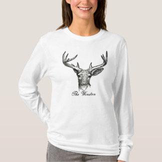 Winstonの雄鹿の長袖のTシャツ Tシャツ