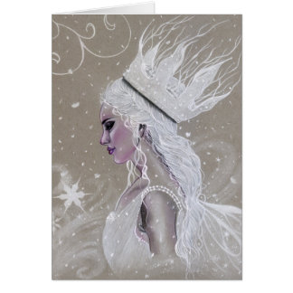 Winter Fairy Queen Greeting Card カード