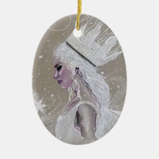 Winter Fairy Queenchristmas tree  Ornament セラミックオーナメント