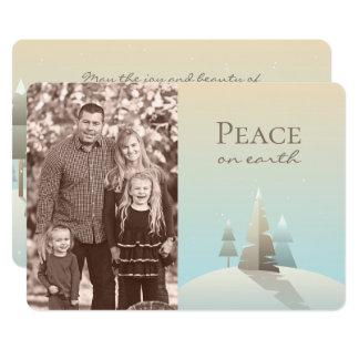 Winter Scene Holiday Photo Card カード