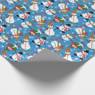 Winter Whimsy Snowman Pattern ラッピングペーパー