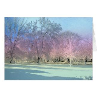 [Winter Wonderland] Snow Ice Trees - Any Occasion カード