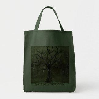 Wintertree|行って下さい|緑|バッグ トートバッグ