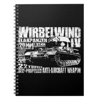 Wirbelwindの螺線形の写真のノート ノートブック