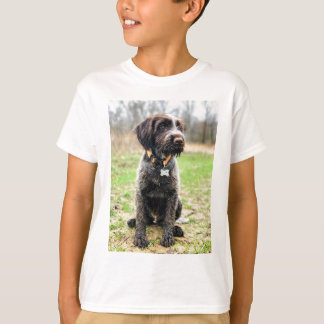 Wirehaired指すGriffon子犬 Tシャツ