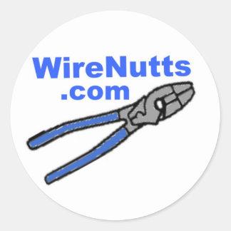 WireNutts com x ヘルメット ステッカー 丸形シールステッカー