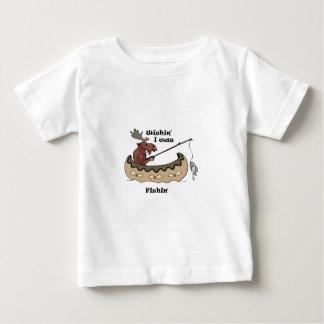 Wishin Iはアメリカヘラジカの魚釣りを採取していました ベビーTシャツ