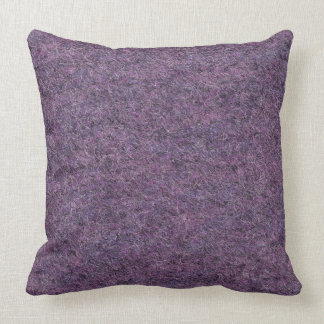 Wispy黒い紫色の白く模造のな毛羽織りの質 クッション