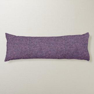 Wispy黒い紫色の白く模造のな毛羽織りの質 ボディピロー