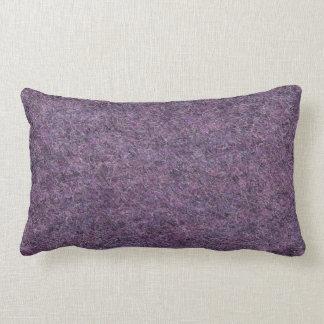 Wispy黒い紫色の白く模造のな毛羽織りの質 ランバークッション