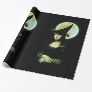 Witchyの女性モナ・リザハロウィン ラッピングペーパー