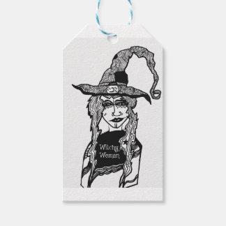 Witchyの女性 ギフトタグ