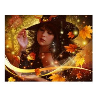 Witchyの女性 ポストカード
