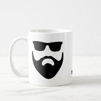 With Great Beard Black Design Silhouette Mug コーヒーマグカップ