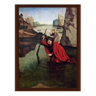 Witzコンラート(最も最高のな質)著St Christopher ポストカード