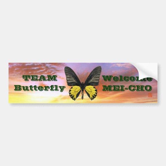 WM キシタアゲハ Team Butterfly バンパーステッカー