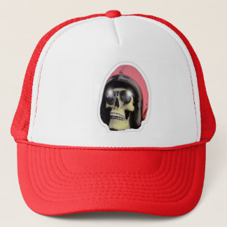 W'n R'nのwaholのスカルの赤いトラック運転手の帽子 キャップ