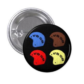 """W'nR'n """"4つのヘルメット""""ボタン 3.2cm 丸型バッジ"""