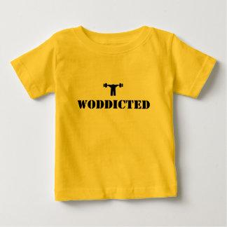 WODDICTED   (黒) ベビーTシャツ