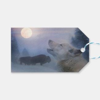 Wolf and Buffalo Southwestern Gift Tags ギフトタグ