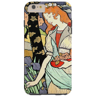 Woman Flowers Floral Vintageアールヌーボーの女性 Tough iPhone 6 Plus ケース