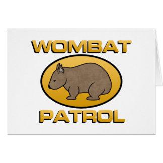 Wombatのパトロール カード