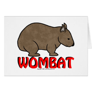 Wombatのロゴ カード