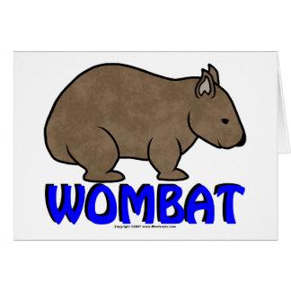 WombatのロゴIII カード