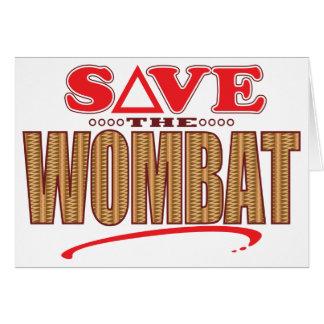 Wombatの保存 カード