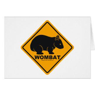 Wombatの印 カード