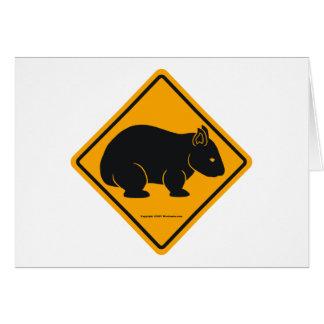 Wombatの印(文字無し) カード