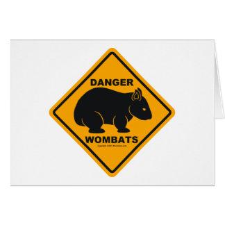 Wombatの危険の交通標識 カード