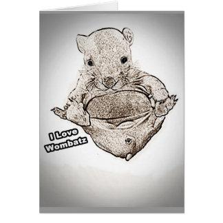 Wombat Joeyの挨拶状 カード