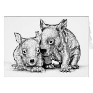 Wombat Joeysの挨拶状 カード