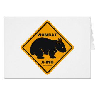 Wombat X-ingの交通標識 カード