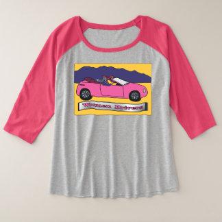 Women Drivers ~ Taking the Wheel プラスサイズラグランTシャツ