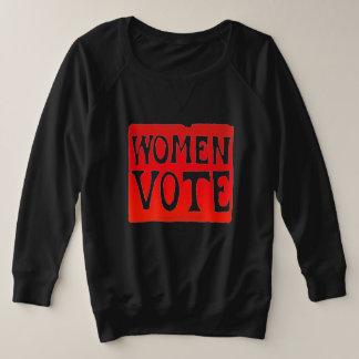 Women Vote - Raging Red プラスサイズスウェットシャツ