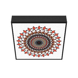 WonderlandDesignsオレンジタンの幾何学的な星のキャンバス キャンバスプリント