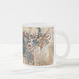 Wonderousの錯覚の曇らされたガラスのマグ フロストグラスマグカップ