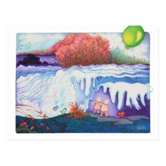 Woobiesの滝の郵便はがき ポストカード