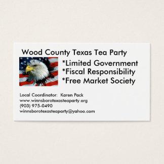 Wood郡テキサス州のお茶会の名刺 名刺