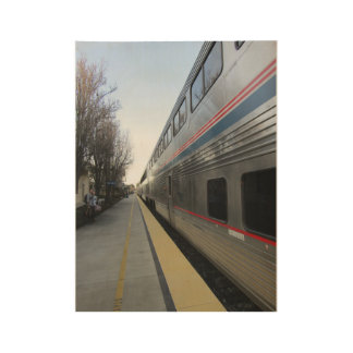 Wood Poster: Train Leaving Paso Robles Station ウッドポスター