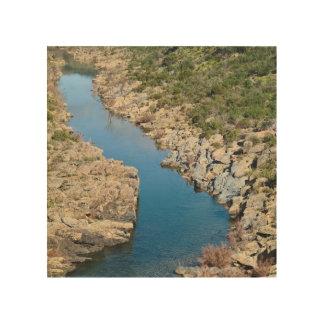 WoodArt: 石の川 ウッドウォールアート