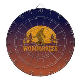 Woodboogerのヴィンテージの日没 ダーツボード