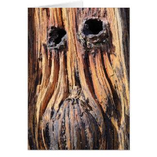 """Woodface"" - Lindisfarne、ノーサンバーランド カード"