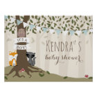 Woodland Creatures Boy Baby Shower Poster ポスター