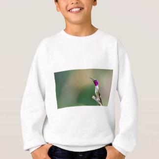 Woodstarの紫色のハチドリ スウェットシャツ