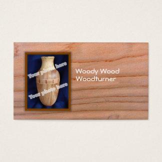 Woodturnerのカスタムな写真の名刺のテンプレート 名刺