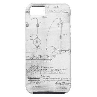 Woodward及びエバンズの電灯のパテント iPhone SE/5/5s ケース